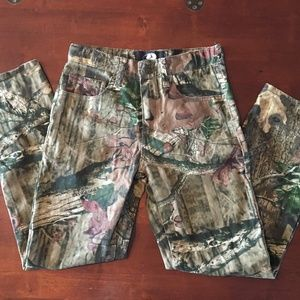 Mossy Oak Bottoms - Boys Mossy Oak Camo Jeans Pants Break-Up Infinity